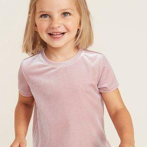Old Navy Pink Velvet Swing Short Sleeve Shirt